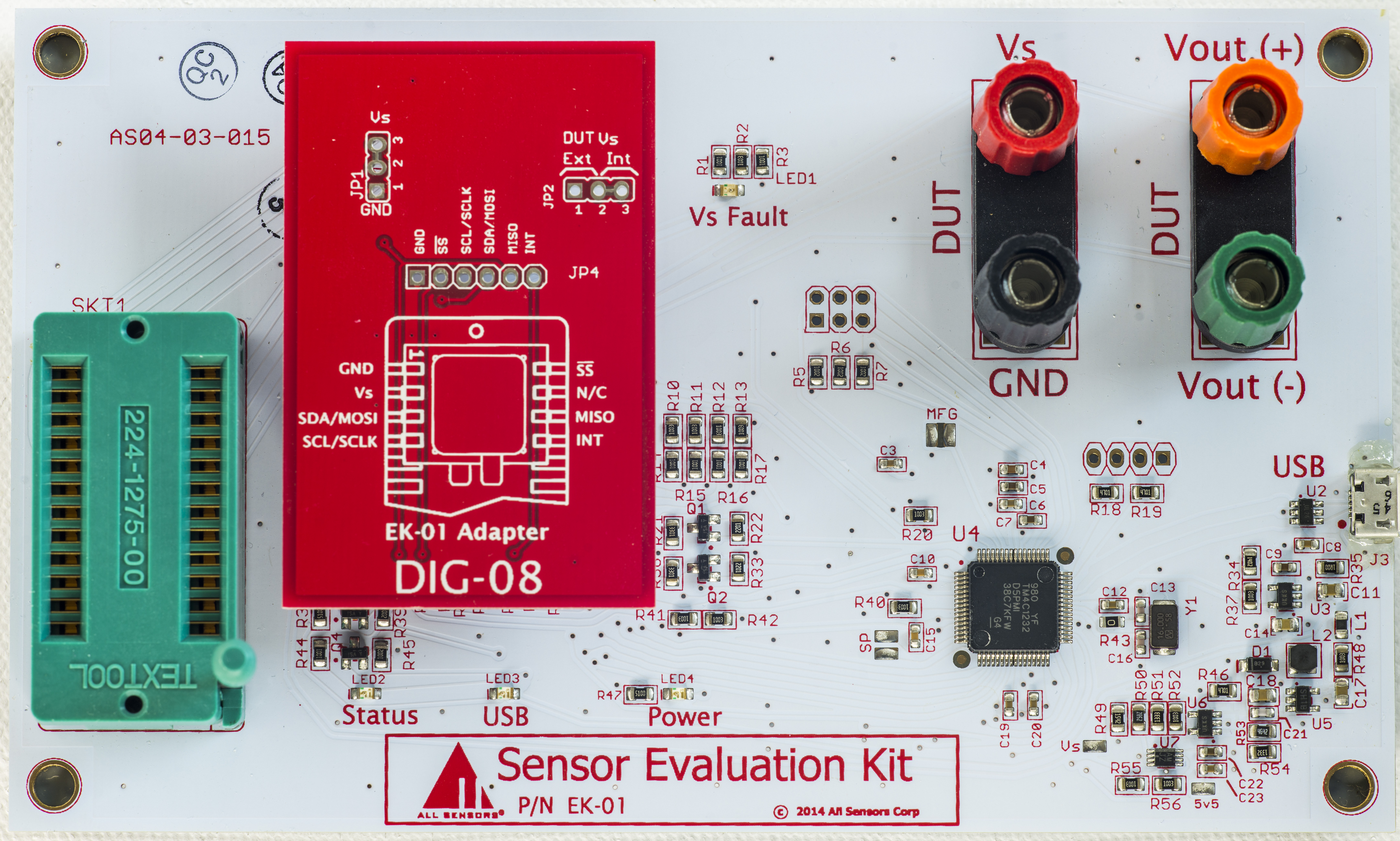 Evaluation Of Modern Pressure Sensors With Digital Interface Programmable Transducer Circuit Board For All Devices