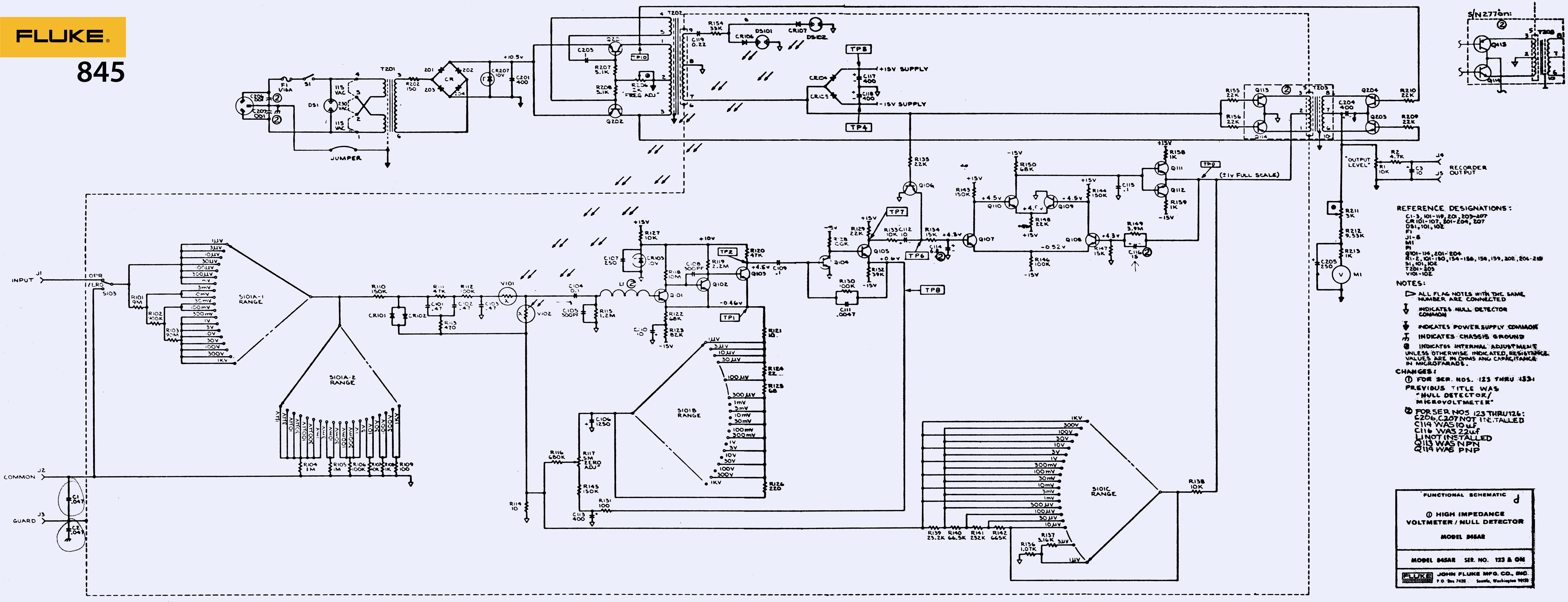 Repair And Tweaks For Fluke 845ab Null Meter Architectural Engineering Schematics Its Rather Simple Concept With Just Few Parts In Each Block Easy To Understand Operation Unlike Most Of Modern Test Instrumentation Gear Filled