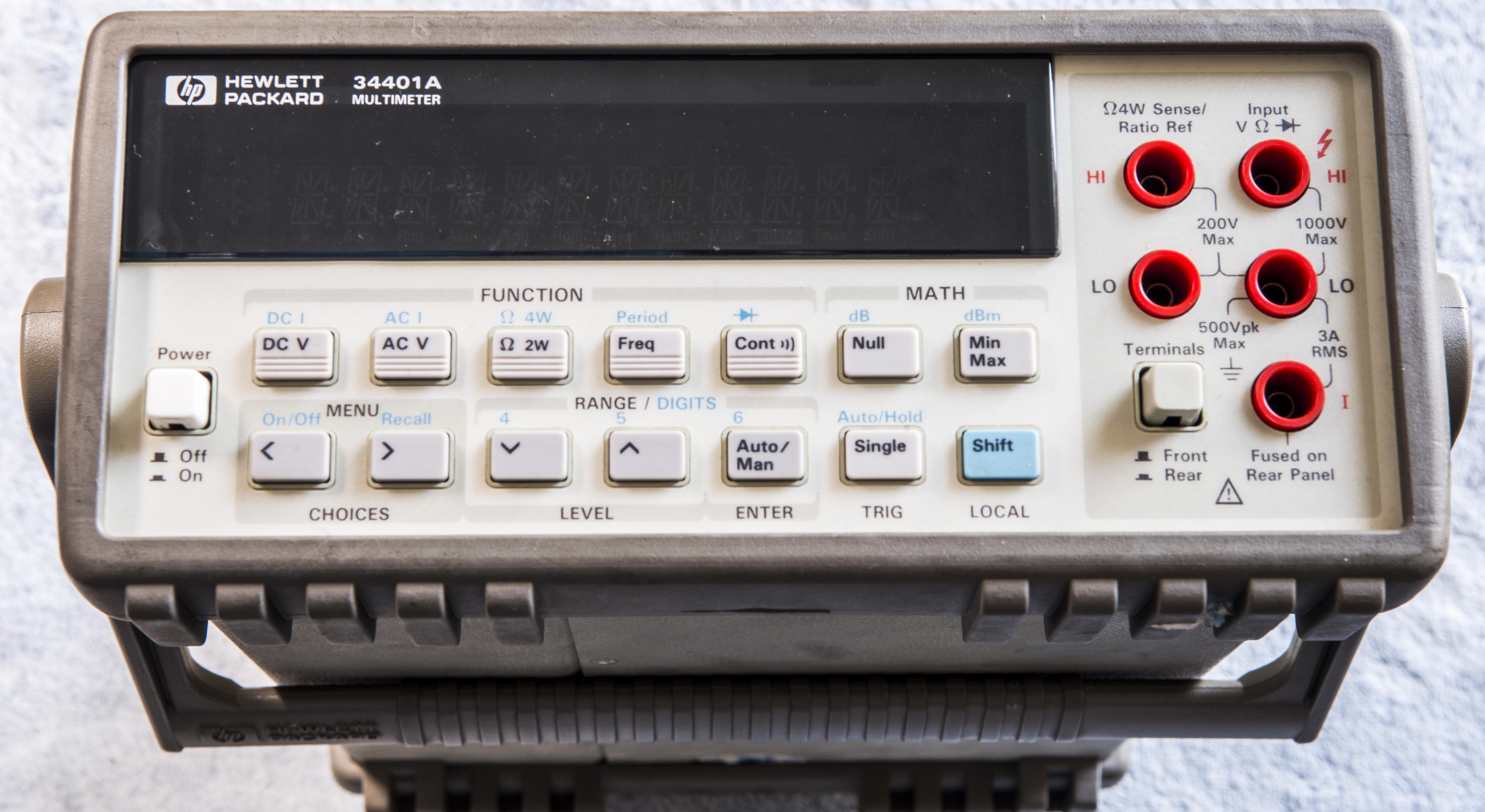 xdevs com hp 34401a repair and calibration worklog rh xdevs com Agilent 34410A hp agilent 34401a service manual
