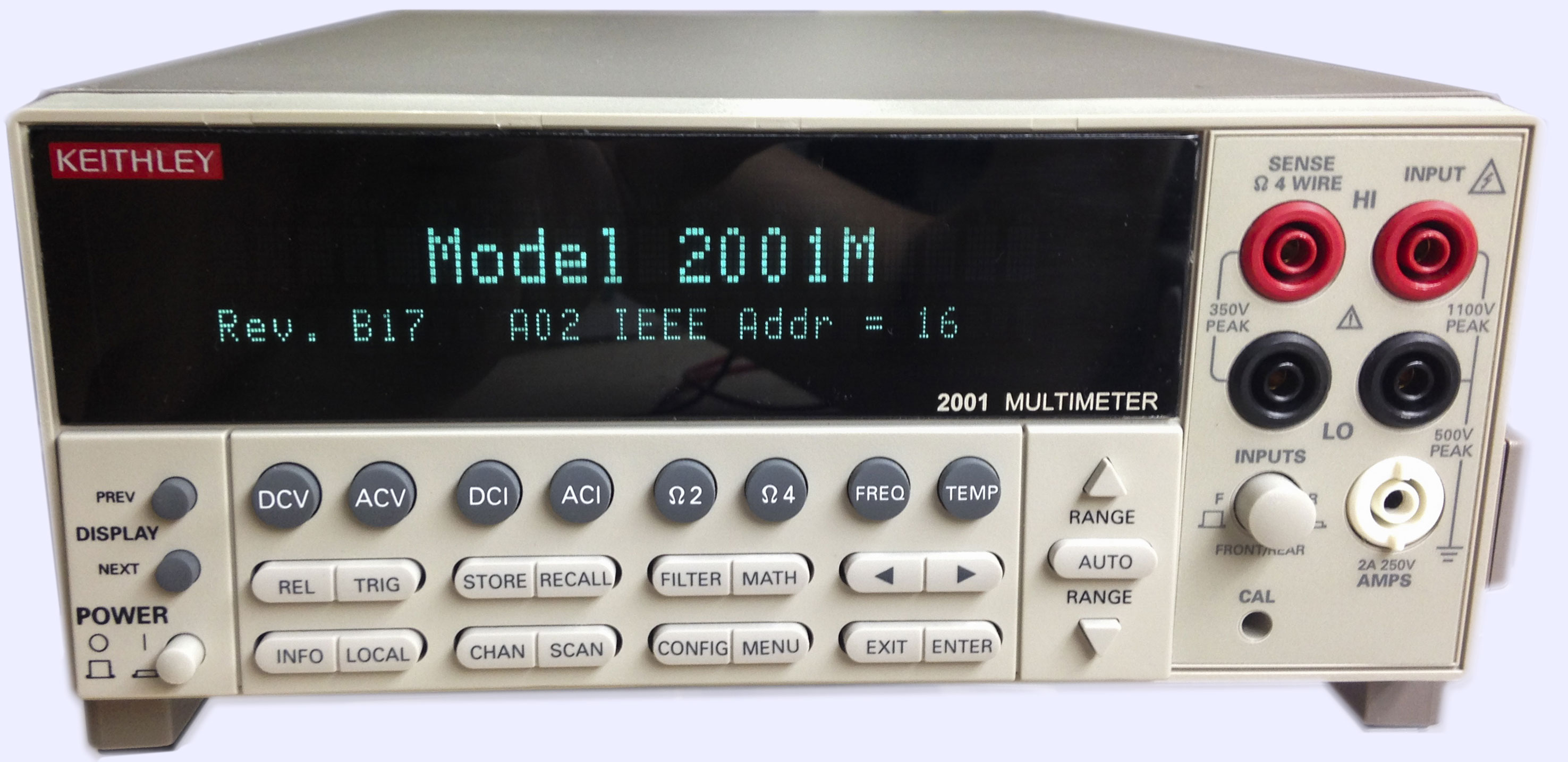 xDevs com | Review of Keithley Model 2001-M precision multimeter