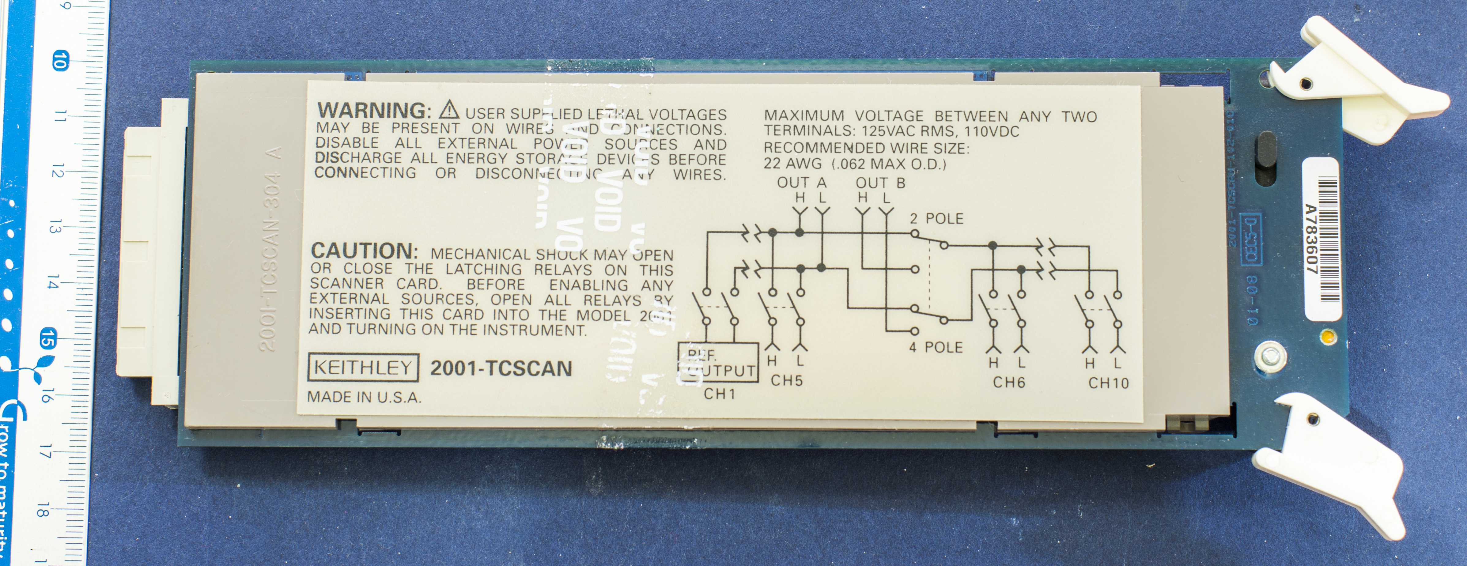 xDevs.com | Review of Keithley 2001-TCSCAN scanner card for 200x ...