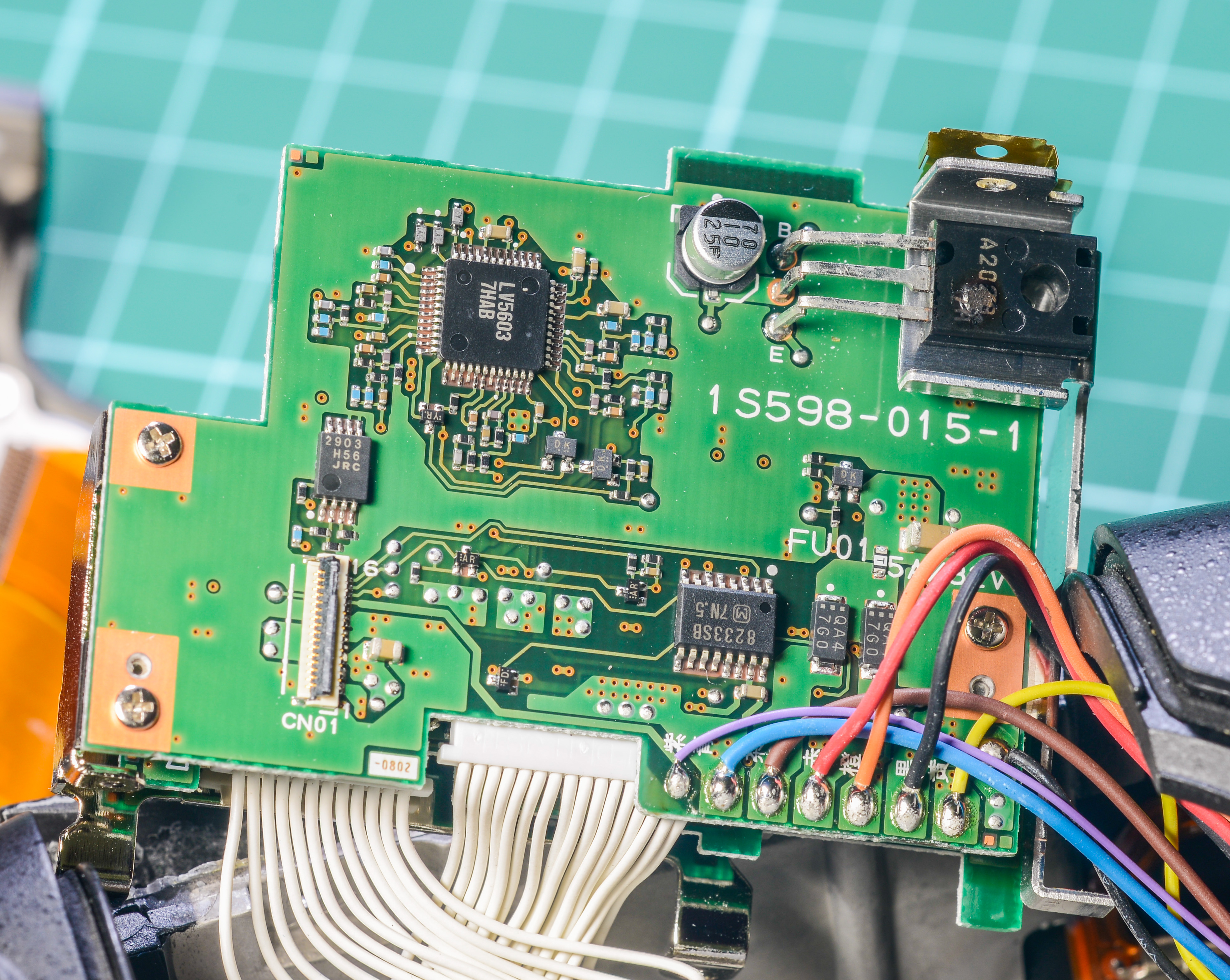 Repair Experience For Nikon D3 Body Wiring Diagram 36 Volt Power Wise Charger Board Aha Thats Where Magic Smoke Escaped Look At That Component In Top Right Side With A Good Burnt Blob On It Its A2023 Marked To225 Packaged Transistor