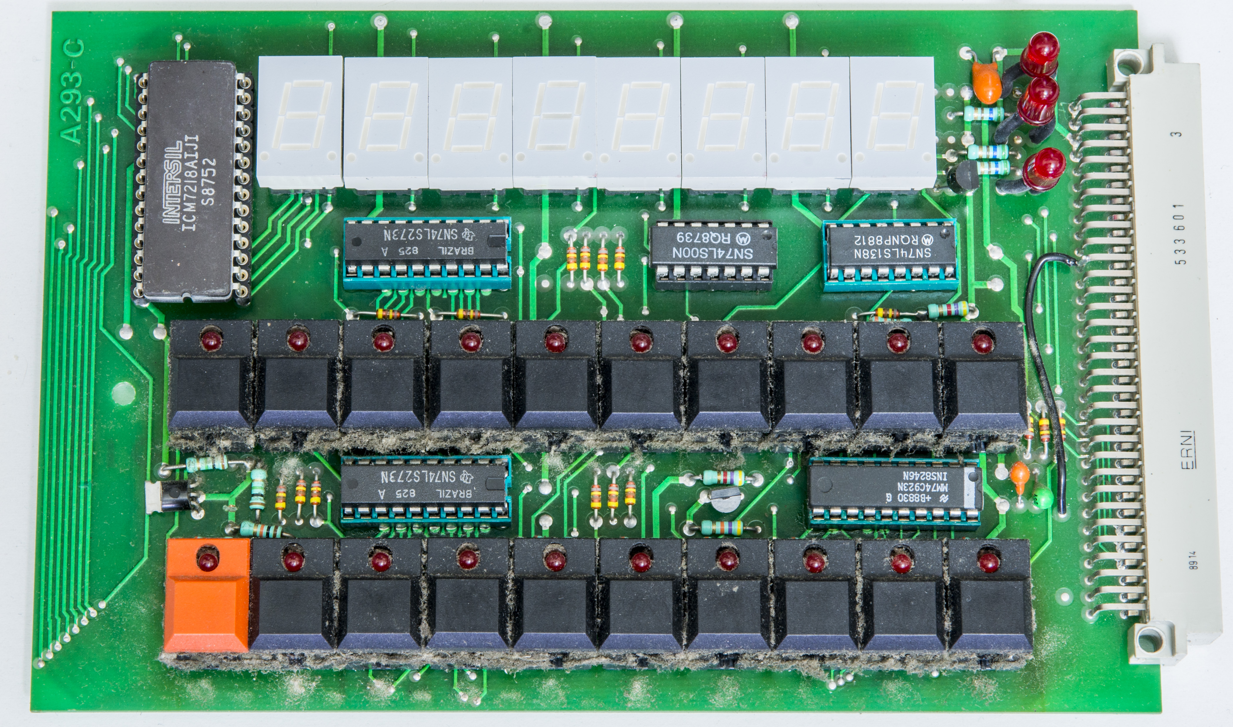 Time Electronics 9823 Ac Dc Calibrator Repair Bcd To 7 Segment Led Display Decoder Circuit Diagram And 2016 Car Is Controlled By Intersil Icm7218 Which 8 Digit Microprocessor Compatible Multiplexed Driver