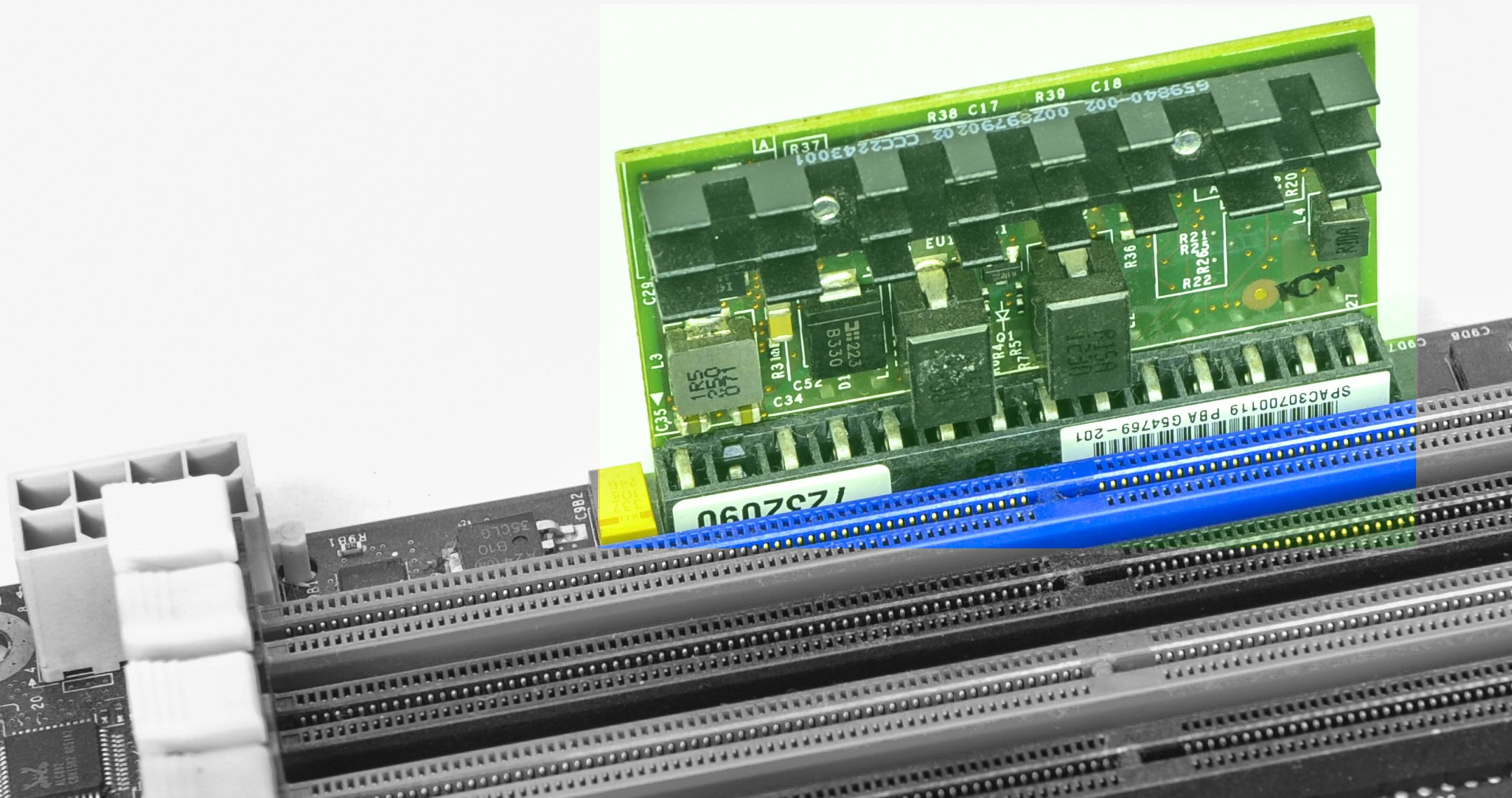 Review And Usage Of Evga Epower V Power Module Or Photo Computer Electronic Circuit Cpu Board Breaking Binary Code Image 3 2 Dc Regulator On Left 12 Controller Mb For Right