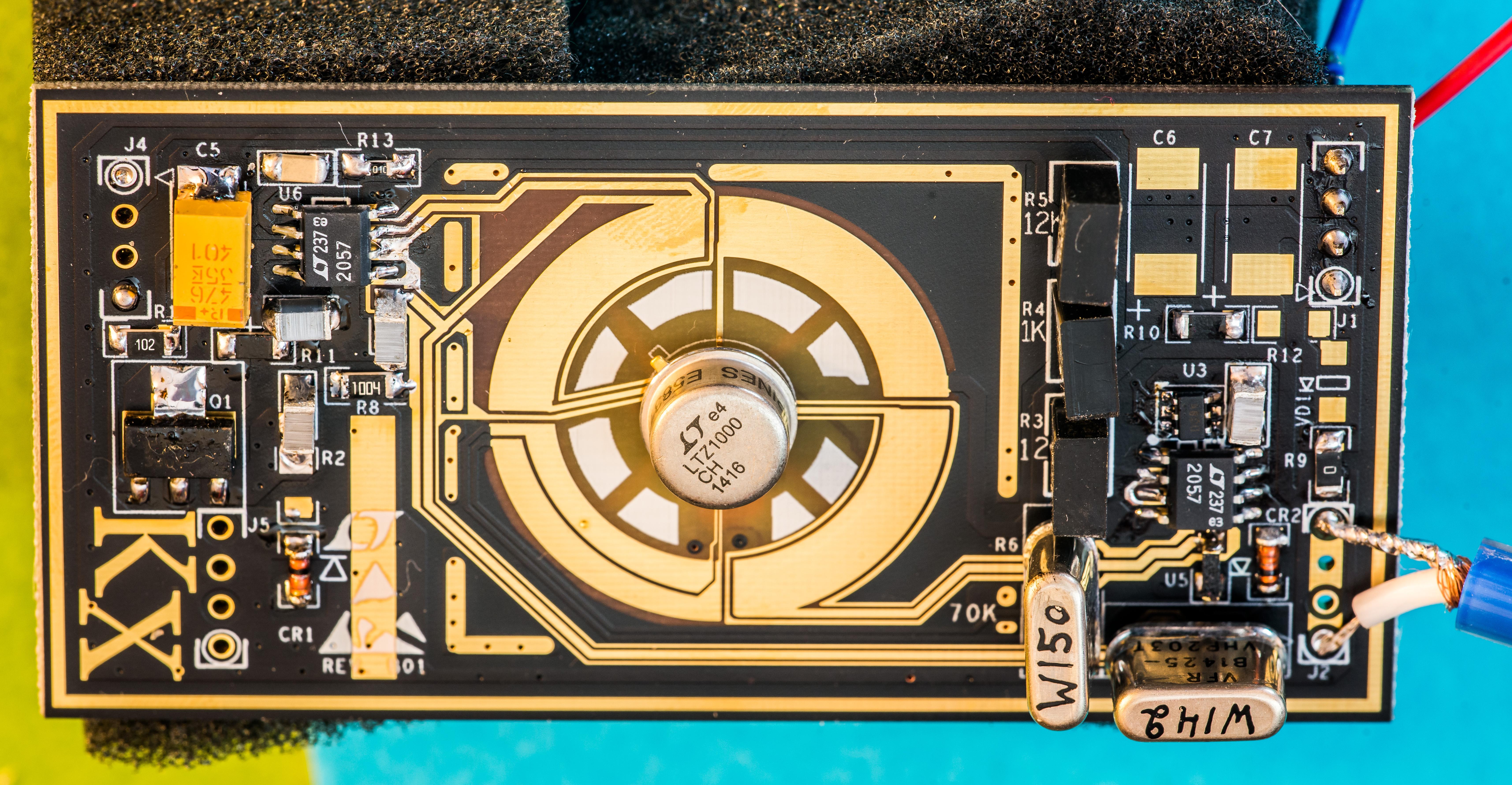 Kx Ltz1000 Based Dc Voltage Reference Design 20v Ultra Precision Op Amps Image 11 Revb00 Right After Assembly Ltc2057 Vishay Foil Resistors