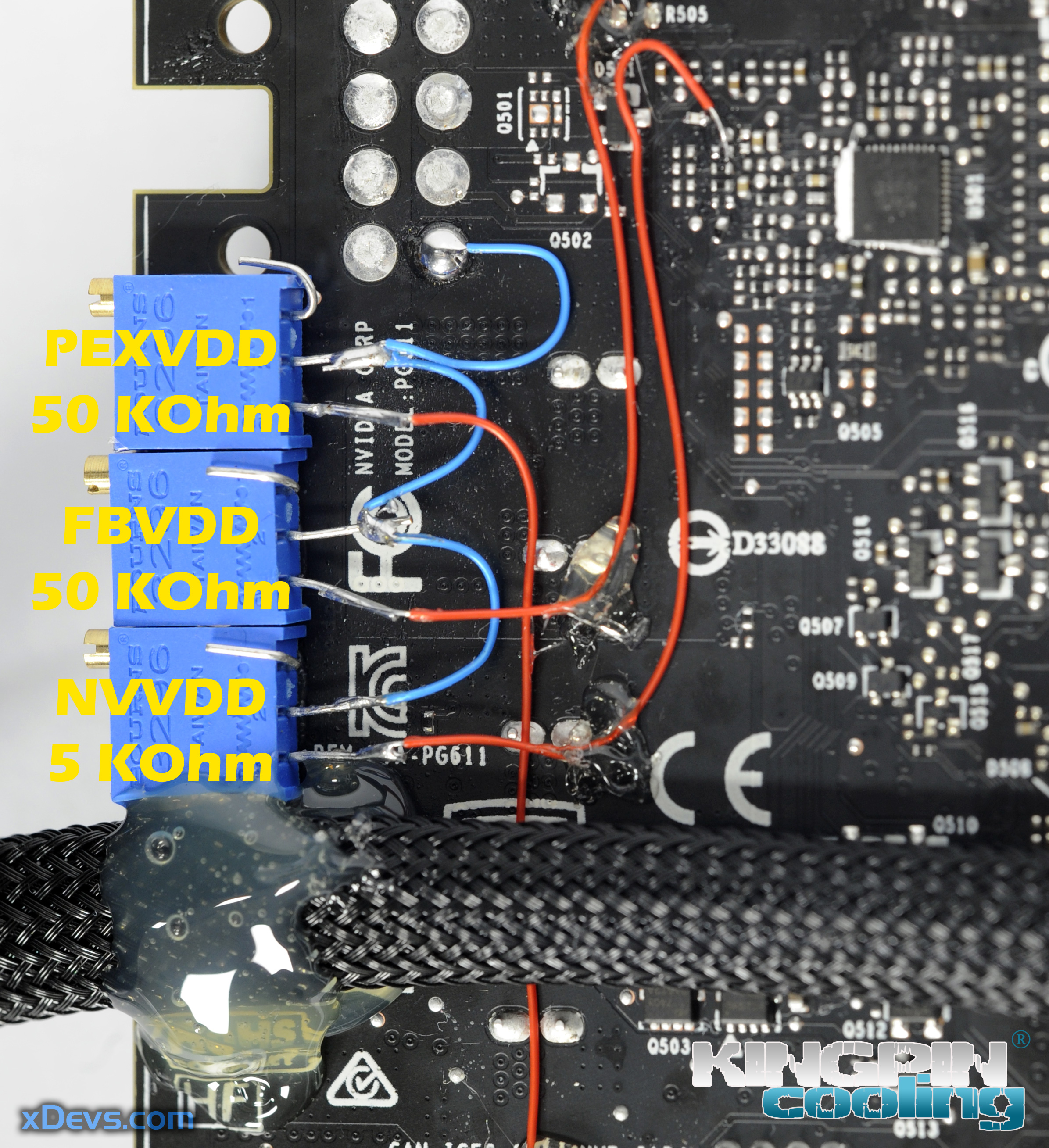 xDevs com | Extreme OC modifications for EVGA GeForce GTX 1080Ti FE